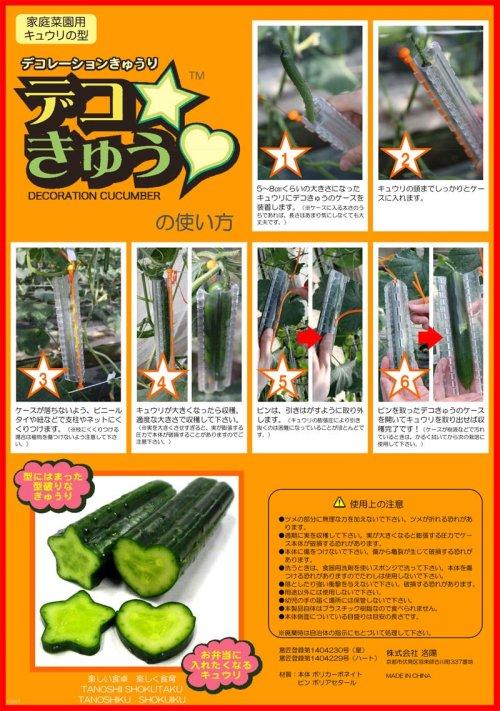 他の写真1: キュウリの型 デコきゅう(ハート1本、星1本)